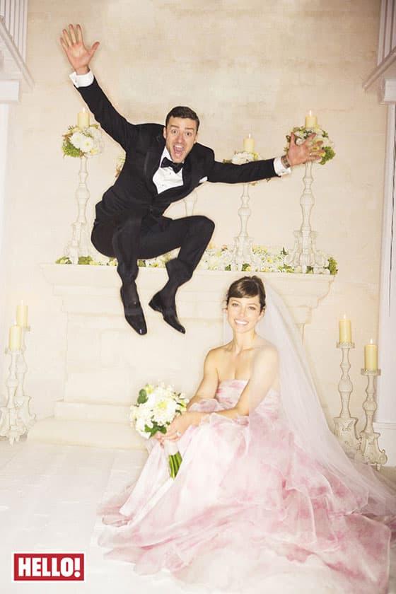 Justin i Jessica Timberlake (foto: Hello)