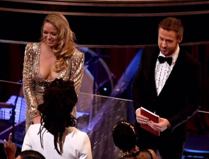 Ryana je na Oskaru pratila misteriozna plavuša (foto: Twitter)