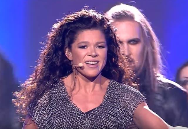 Ruslana sinoć u finalu Eurosonga (foto: Screenshot)